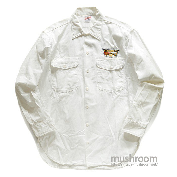 CENTRAL MOTOR CO WHITE COTTON WORK SHIRT