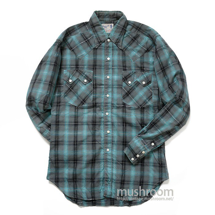OLD PLAID COTTON WESTERN SHIRT( MINT )