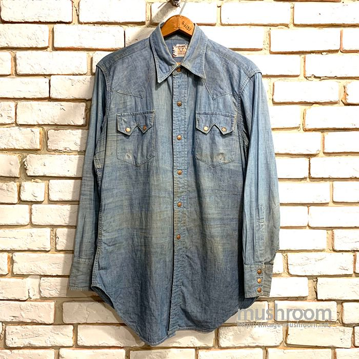 LEVI'S SHORTHORN CHAMBRAY WESTERN SHIRT