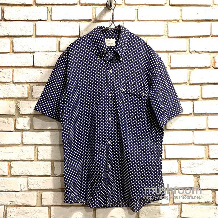 SEARS POLKA DOT S/S BD SHIRT