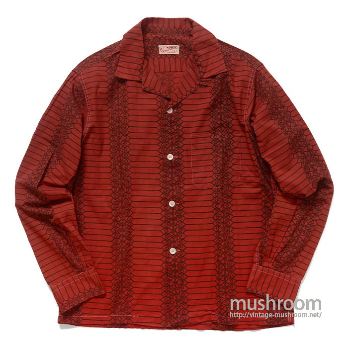 GREEN VALLEY BARBED WIRE PATTERN COTTON SHIRT