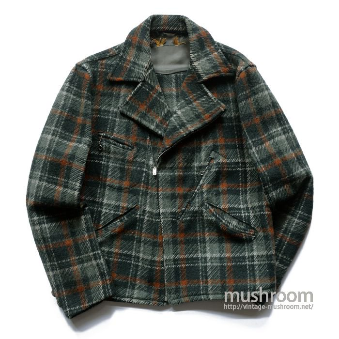 OLD PLAID DOUBLE BREASTED WOOL SPORTS JACKET