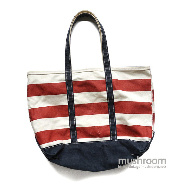 L.L.BEAN BORDER-STRIPE TOTE BAG