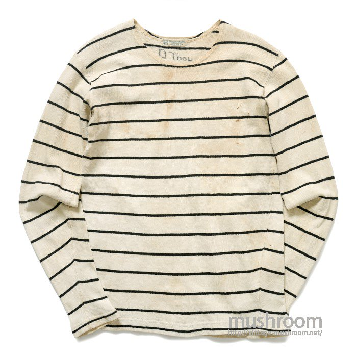 G&M BORDER-STRIPE BASEBALL T-SHIRT