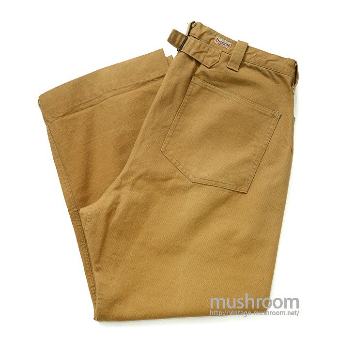 THE AMERICAN BRAND BROWN DUCK WORK TROUSER