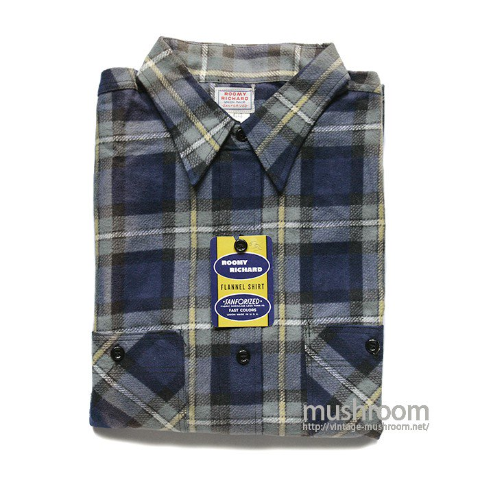 ROOMY RICHARD FLANNEL WORK SHIRT( 16H/DEADSTOCK )