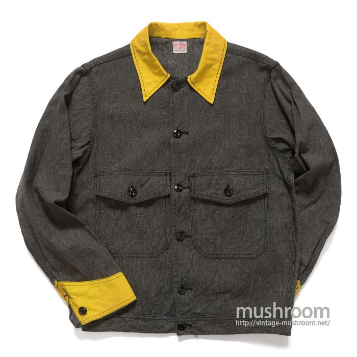 FREELAND BLACK CHAMBRAY WORK JACKET( 36/MINT )