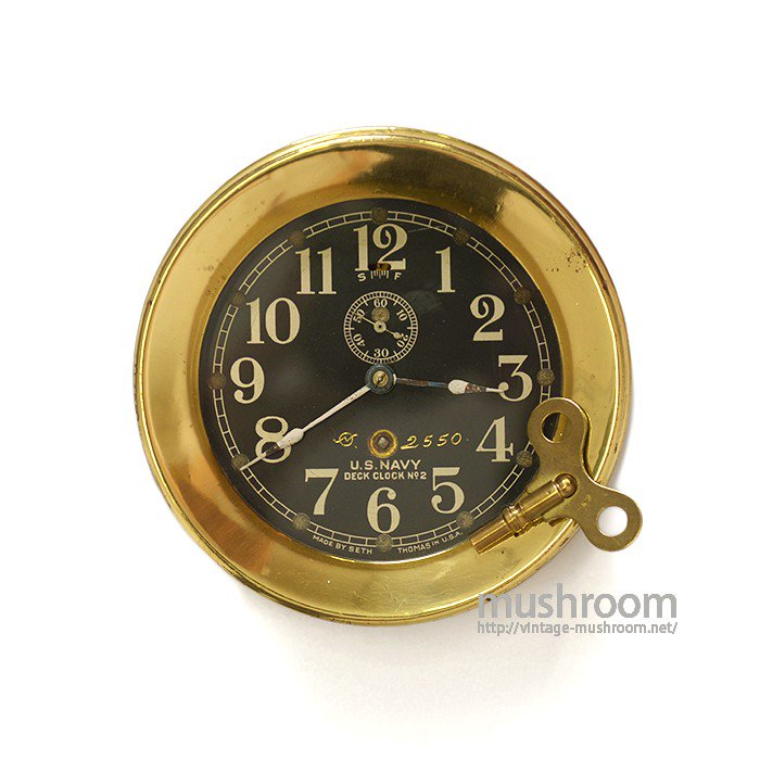 WW1-WW2 U.S.NAVY DECK CLOCK