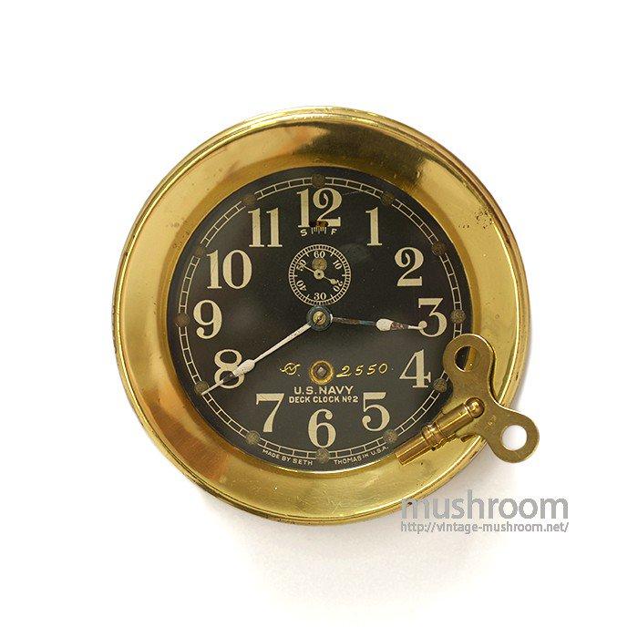 WW1-WW2 U.S.NAVY DECK CLOCK