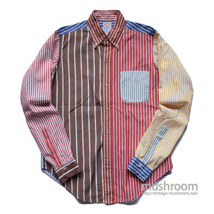 BROOKS BROS CRAZY STRIPE BD SHIRT( 15H-XL )