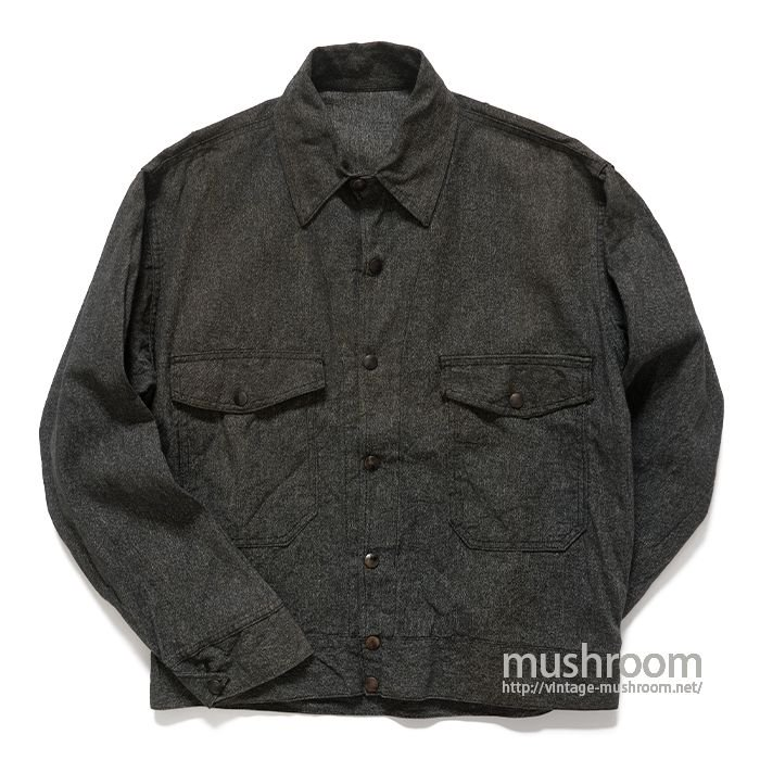UNKNOWN BLACK CHAMBRAY WORK JACKET