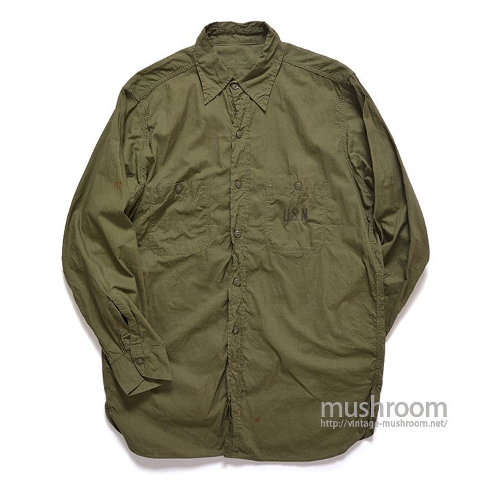 U.S.NAVY POPLIN COTTON UTILITY SHIRT( 15H/MINT )
