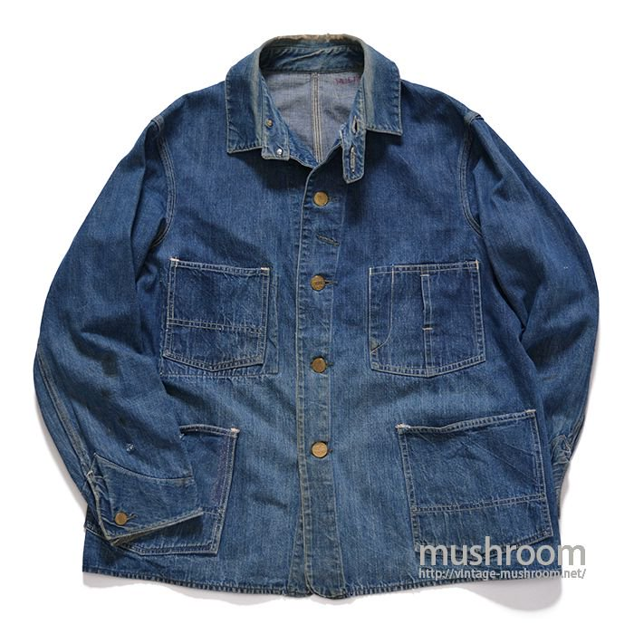 HERCULES DENIM COVERALL WITH CHINSTRAP