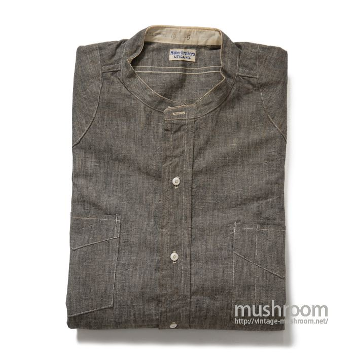 MAHER BROS GRAY CHAMBRAY WORK SHIRT( 16/DEADSTOCK )