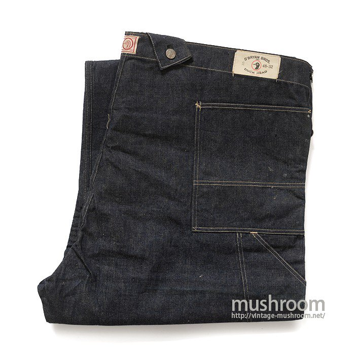 O'BRYAN BROS DENIM OVERALLS( 48-32/DEADSTOCK )