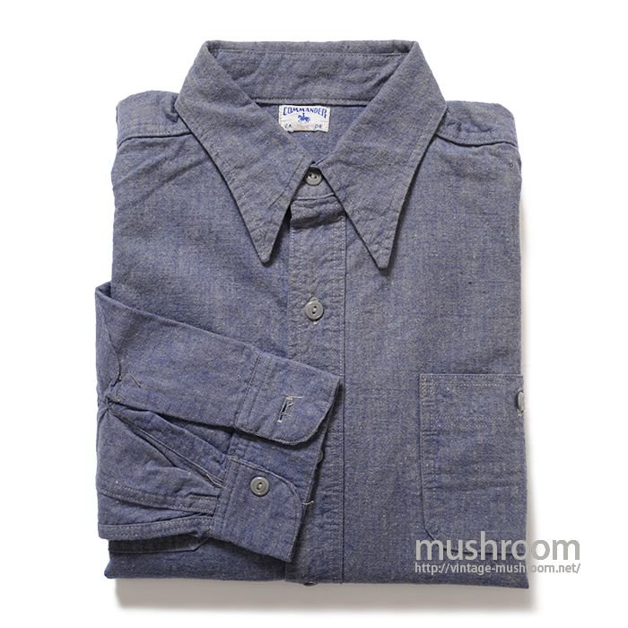 COMMANER COTTON FLANNEL WORK SHIRT( MINT )