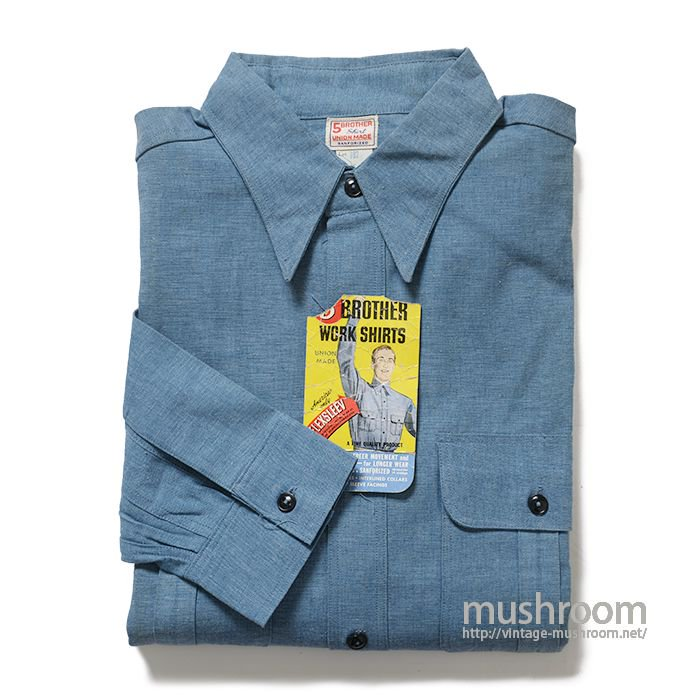 5BROTHER CHAMBRAY WORK SHIRT( 16/DEADSTOCK )
