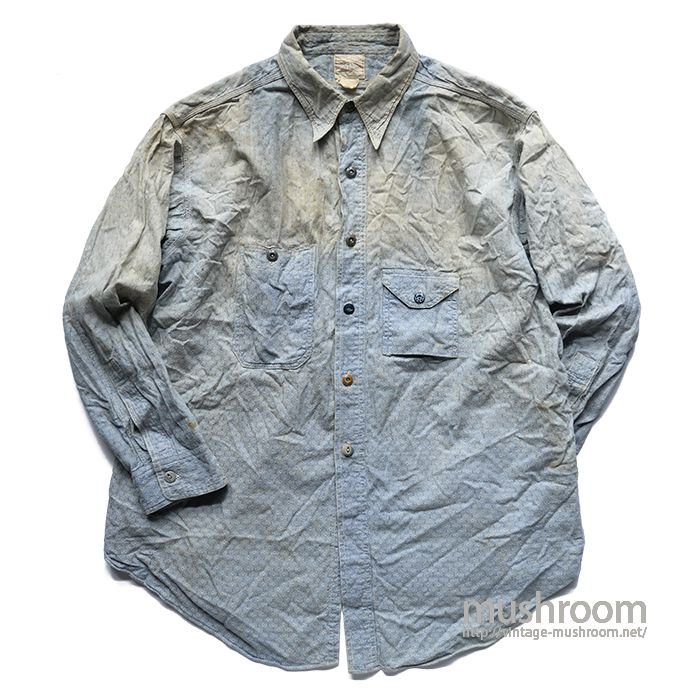 BIG YANK DIAMOND PATTERN CHAMBRAY WORK SHIRT