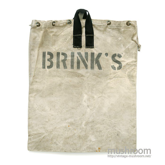 BRINK'S MONEY CARRING CANVAS BAG
