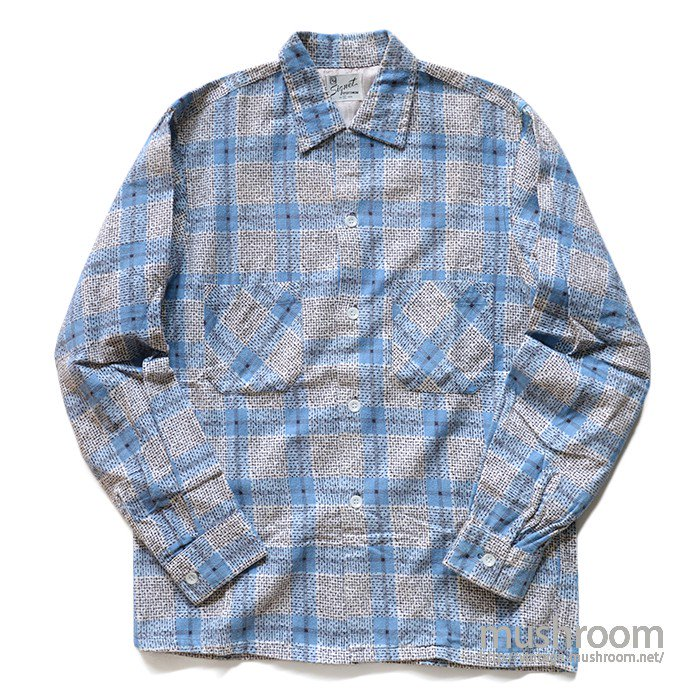 OLD PRINT FLANNEL SHIRT( S/MINT )