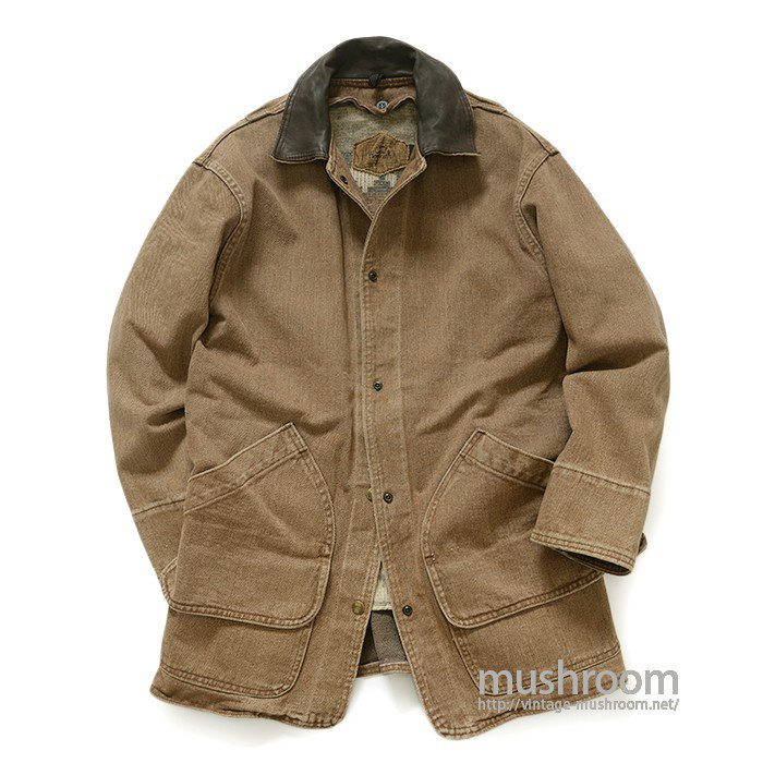 WOOLRICH BROWN DENIM HUNTING JACKET