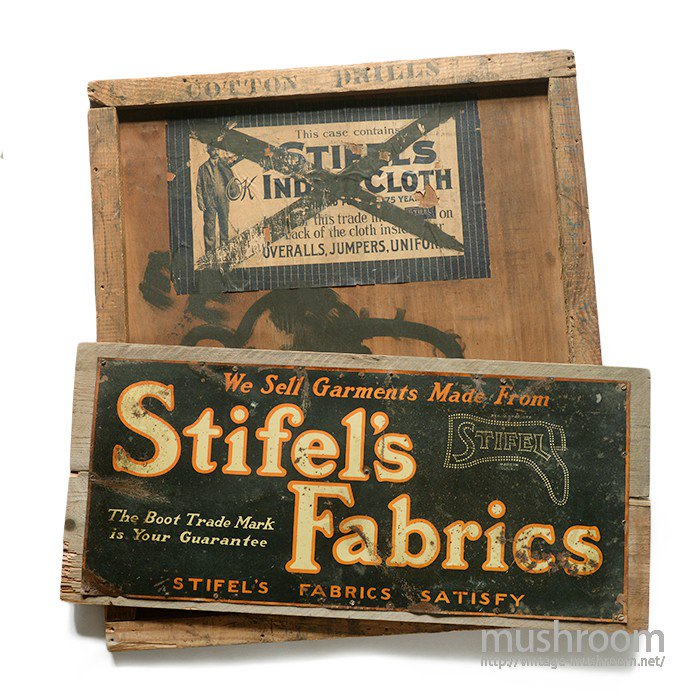 STIFEL'S FABRICS ADVERTISING SIGN