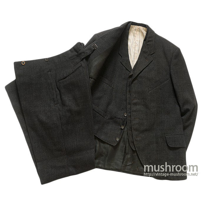 ANTIQUE-UNKNOWN-3-PIECE WOOL SUIT