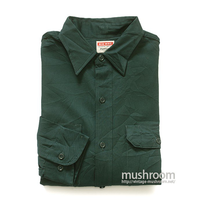 BIG MAC COTTON WORK SHIRT( 15H-S/DEADSTOCK )
