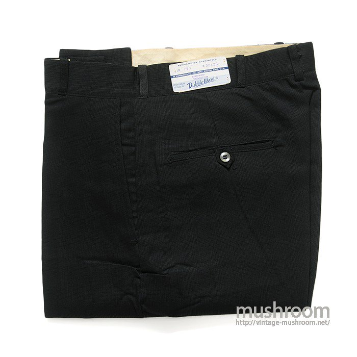 DUBBLE-WARE BLACK COTTON TROUSERS(32/28/DEADSTOCK )