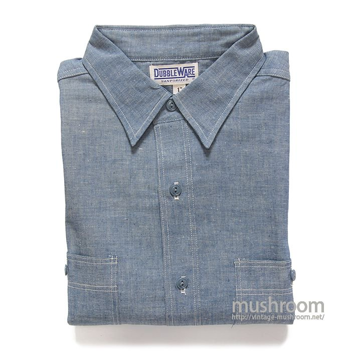 DUBBLEWARE CHAMBRAY WORK SHIRT( 17/DEADSTOCK )