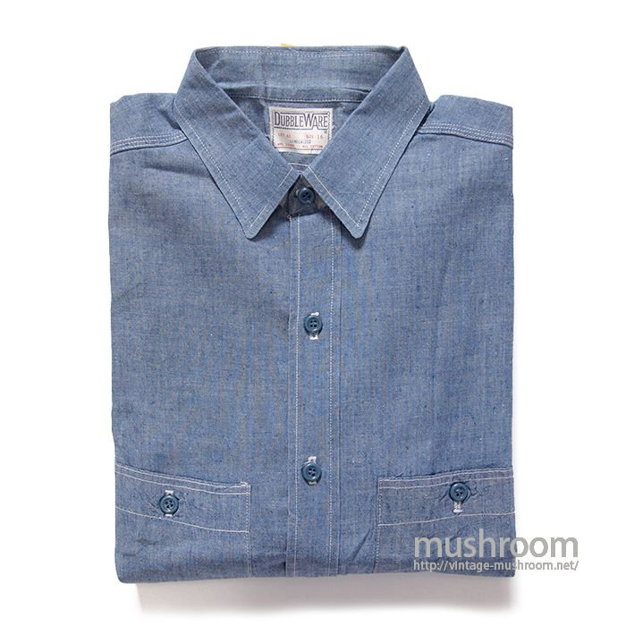 DUBBLEWARE CHAMBRAY WORK SHIRT( 16/ONE-WASHED )