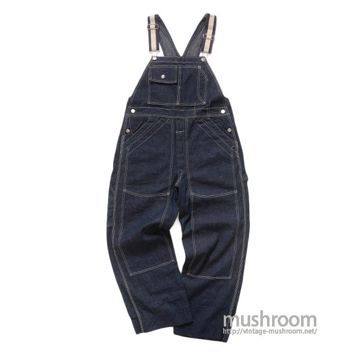 DUBBLEWARE DOUBLE KNEE DENIM OVERALLS