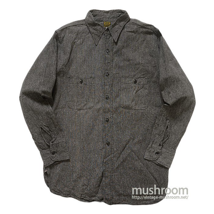 WASHINGTON DEECEE BLACK CHAMBRAY WORK SHIRT( ONE WASHED )
