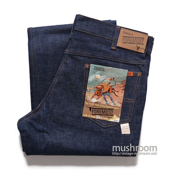 PENNEY'S FOREMOST 5POCKET JEANS( 33/32/DEADSTOCK )