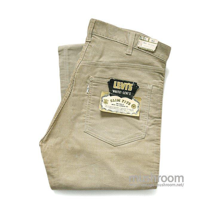 LEVI'S 518 BIGE SLIM FITS CORDUROY PANTS( W32/L34/DEADSTOCK )