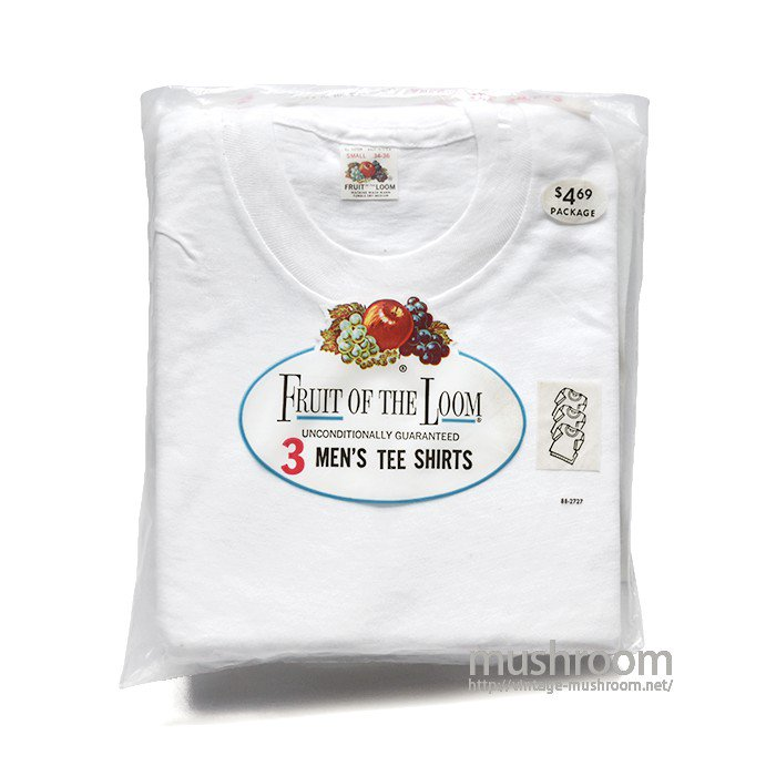 FRUIT OF THE LOOM PLAIN 3PACK T-SHIRT(S/DEADSTOCK )