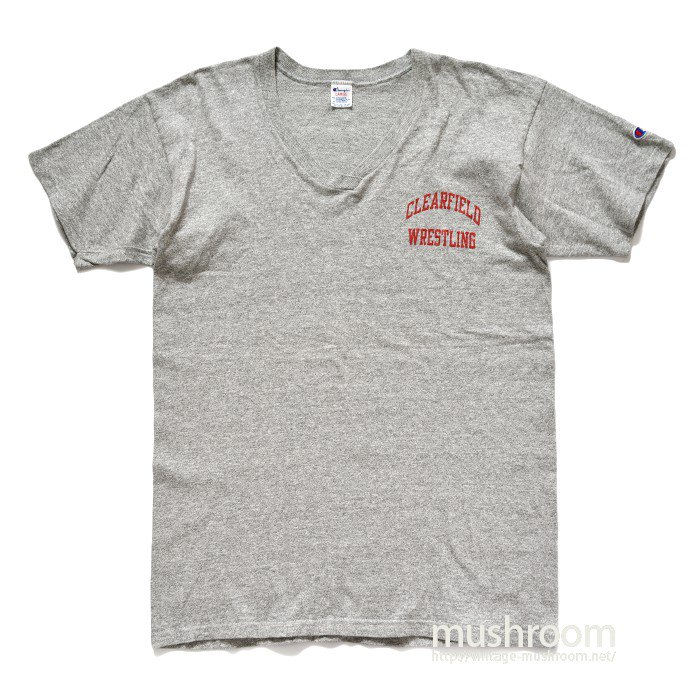 CHAMPION V-NECK PRINTED T-SHIRT