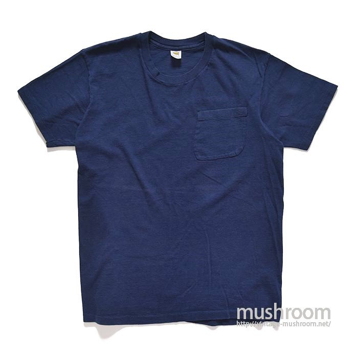 HANES NAVY POCKET T-SHIRT