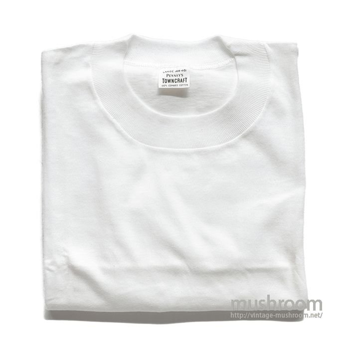 PENNEY'S TOWNCRAFT WHITE COTTON T-SHIRT( L/DEADSTOCK )