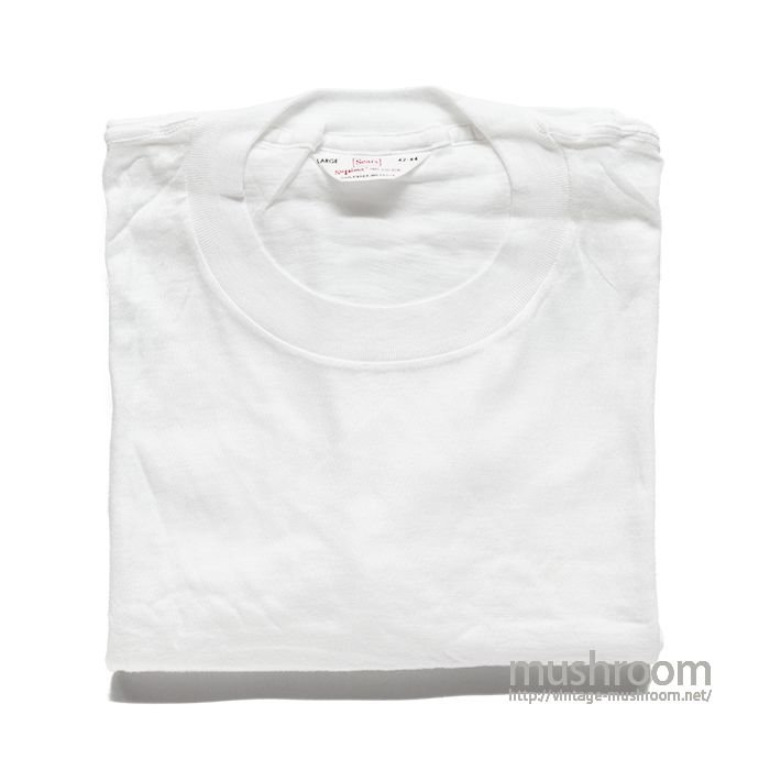 SEARS WHITE COTTON T-SHIRT( L/DEADSTOCK )