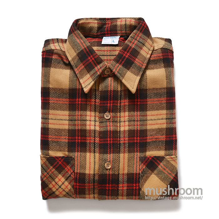 BIG MAC PLAID FLANNEL SHIRT( L/DEADSTOCK )