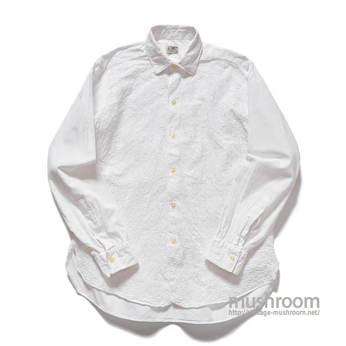 OLD WHITE EMBROIDERY COTTON SHIRT( M/MINT )