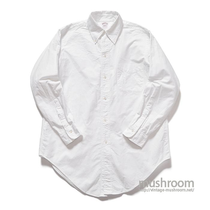 BROOKS BROS WHITE OXFORD BD SHIRT(15H-2/MINT)