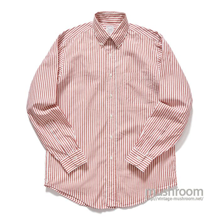 BROOKS BROS STRIPR BD COTTON SHIRT(15-4/MINT)