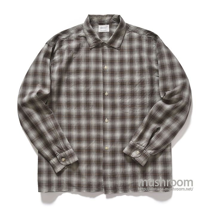 TOWNCRAFT PLAID COTTON BOX SHIRT( XL/MINT )