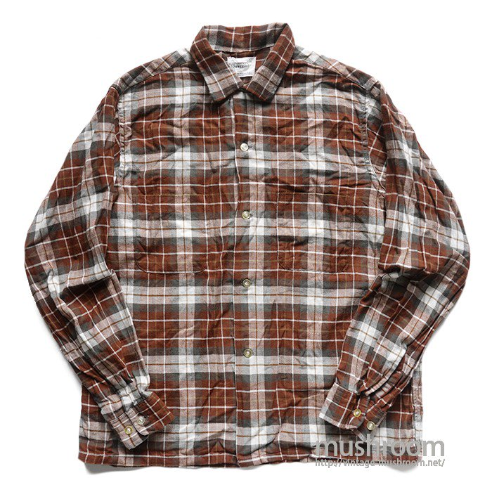 TOWNCRAFT PLAID COTTON BOX SHIRT( M/MINT )