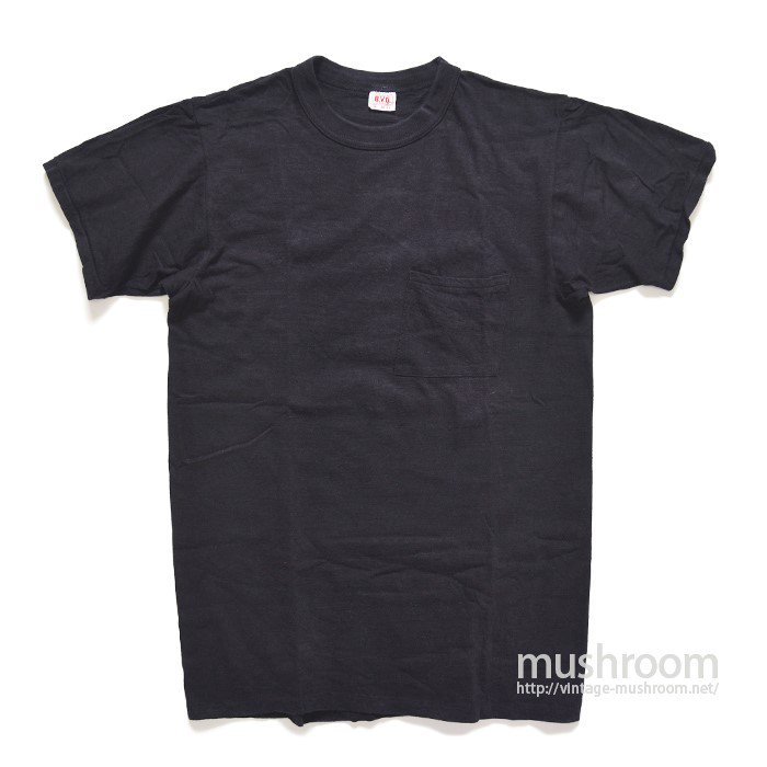 BVD BLACK POCKET COTTON T-SHIRT