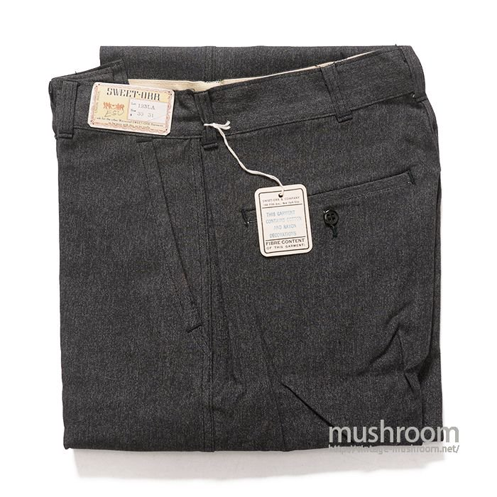 SWEET-ORR BLACK CHAMBRAY WORK TROUSER( 30/31/DEADSTOCK )
