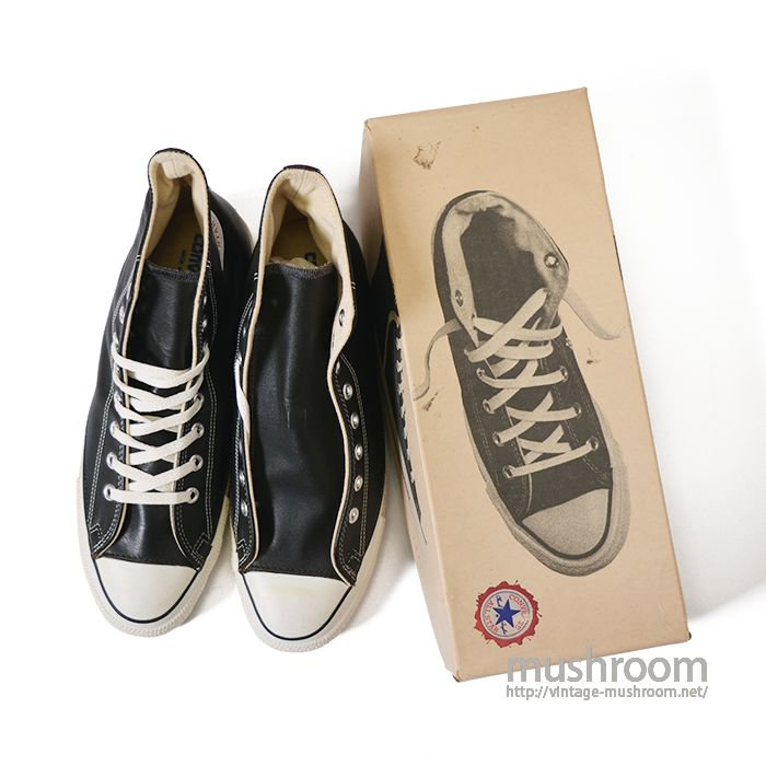 CONVERSE ALL-STAR HI BLACK LEATHER( 11/DEADSTOCK )
