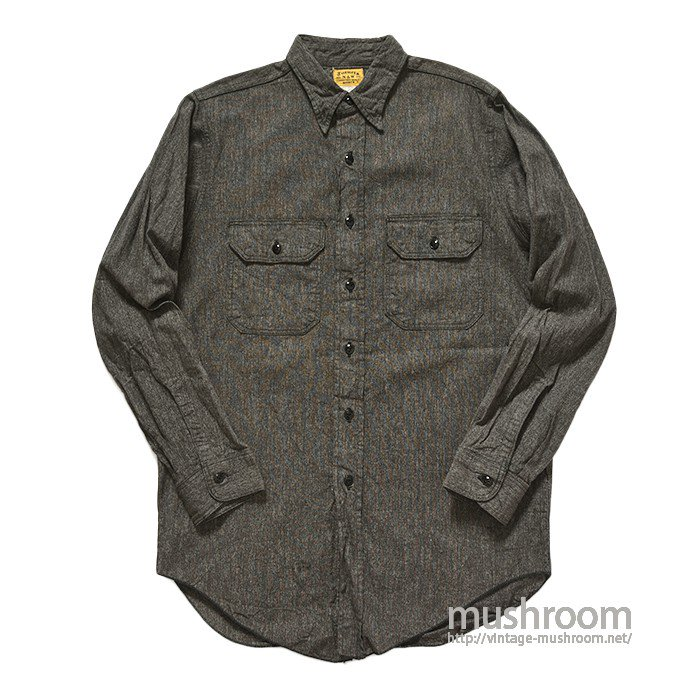 N&W BLACK CHAMBRAY WORK SHIRT( ONE WASHED )
